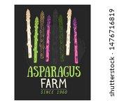 organic asparagus farm hand... | Shutterstock .eps vector #1476716819
