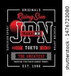 japan  osaka typography slogan...   Shutterstock .eps vector #1476723080
