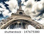 tower eiffel from below  paris. | Shutterstock . vector #147675380