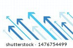 financial arrows graph going to ... | Shutterstock .eps vector #1476754499