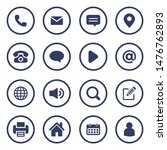 web icons set for computer... | Shutterstock .eps vector #1476762893