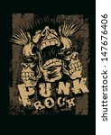 "retro design ""punk rock"" for t... 