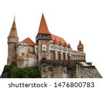 Corvin Castle Isolated On Whit...
