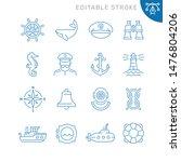 marine related icons. editable... | Shutterstock .eps vector #1476804206