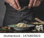 Chef Hands Cooking Italian...