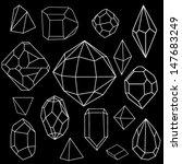 black and white diamonds.vector ... | Shutterstock .eps vector #147683249