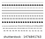 vector set of hand drawn line... | Shutterstock .eps vector #1476841763