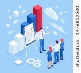 isometric business people... | Shutterstock .eps vector #1476852500