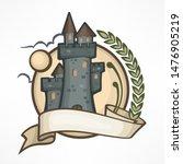 color retro round castle logo... | Shutterstock . vector #1476905219