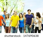 group happy people in summer...   Shutterstock . vector #147690638