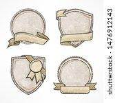 badge set  vintage award sign... | Shutterstock . vector #1476912143
