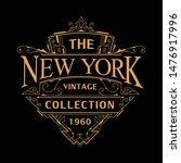 vintage art deco badge logo... | Shutterstock .eps vector #1476917996