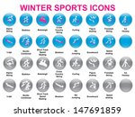 set of round icons with winter... | Shutterstock .eps vector #147691859