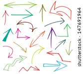 collection of hand drawn doodle ... | Shutterstock .eps vector #147691964