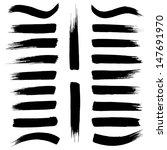 brush strokes vector on a white ... | Shutterstock .eps vector #147691970