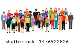 a diverse multiracial and... | Shutterstock . vector #1476922826
