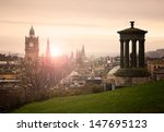 View Of Edinburgh City Center...