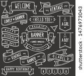 set of vintage banner and... | Shutterstock .eps vector #1476973043