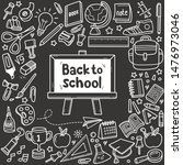 set of back to school related... | Shutterstock .eps vector #1476973046