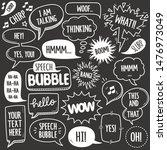 set of speech bubbles related... | Shutterstock .eps vector #1476973049