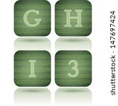 custom made alphabet  drawn... | Shutterstock .eps vector #147697424