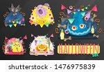 halloween set. holiday still...   Shutterstock .eps vector #1476975839