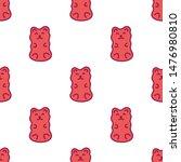 jelly bear seamless doodle... | Shutterstock .eps vector #1476980810