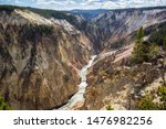River In The Deep Valley Of Th...