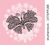 butterfly nature pattern... | Shutterstock .eps vector #147699188