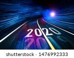 The Word 2020 Written On Speed...