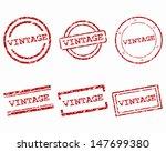 vintage stamps | Shutterstock .eps vector #147699380