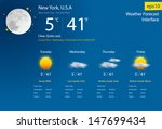 weather forecast interface ... | Shutterstock .eps vector #147699434