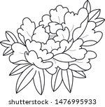 sketch tattoo flower decorative ... | Shutterstock .eps vector #1476995933