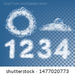 set of numbers and figures made ... | Shutterstock .eps vector #1477020773