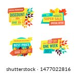 discount or sale emblems set... | Shutterstock . vector #1477022816