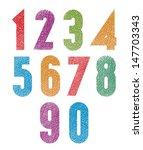 retro style geometric bold... | Shutterstock .eps vector #147703343