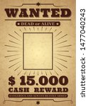 western poster. old west paper... | Shutterstock .eps vector #1477040243