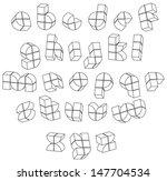 futuristic black and white 3d...   Shutterstock .eps vector #147704534