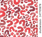 Queries Marks Seamless Pattern...