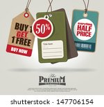 vintage style price tags design | Shutterstock .eps vector #147706154
