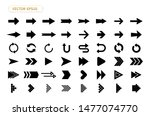 arrow vector isolated icon set. ... | Shutterstock .eps vector #1477074770