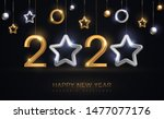 2020 silver and gold numbers... | Shutterstock .eps vector #1477077176