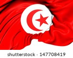 flag of tunisia. close up.    | Shutterstock . vector #147708419