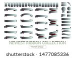 ribbon banner label silver... | Shutterstock .eps vector #1477085336