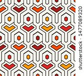 ethnic seamless surface pattern.... | Shutterstock .eps vector #1477089320