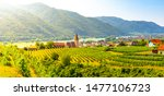sunny day in wachau valley.... | Shutterstock . vector #1477106723