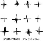 pack black pluses of different... | Shutterstock .eps vector #1477119263