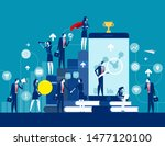 business finance and industry.... | Shutterstock .eps vector #1477120100