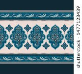 indian paisley pattern vector... | Shutterstock .eps vector #1477123439