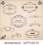vector set of calligraphic... | Shutterstock .eps vector #147713174